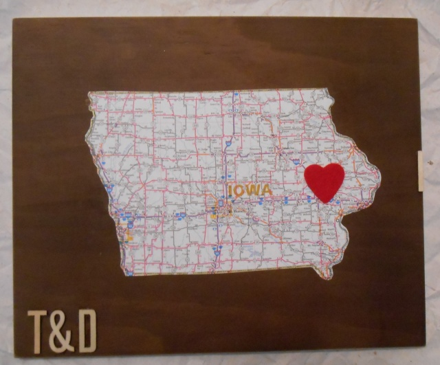 DIY State Love Wall Art | Tulips & Rain