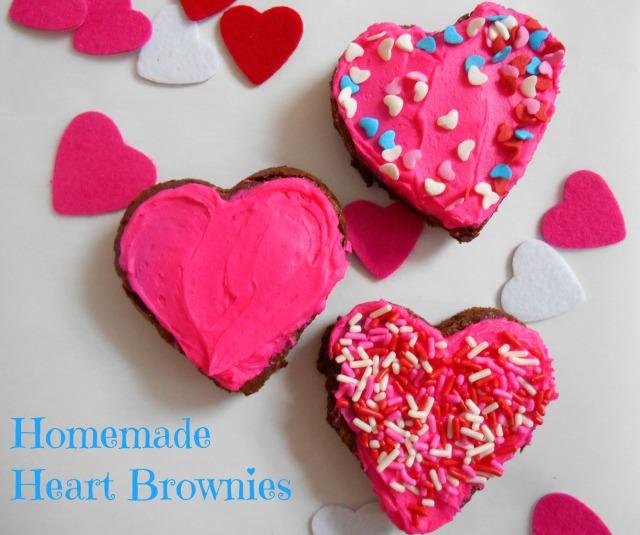 Homemade Heart Brownies | Tulips & Rain