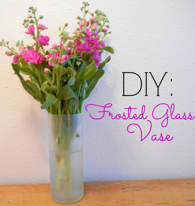 DIY Frosted Glass Vase | Tulips & Rain