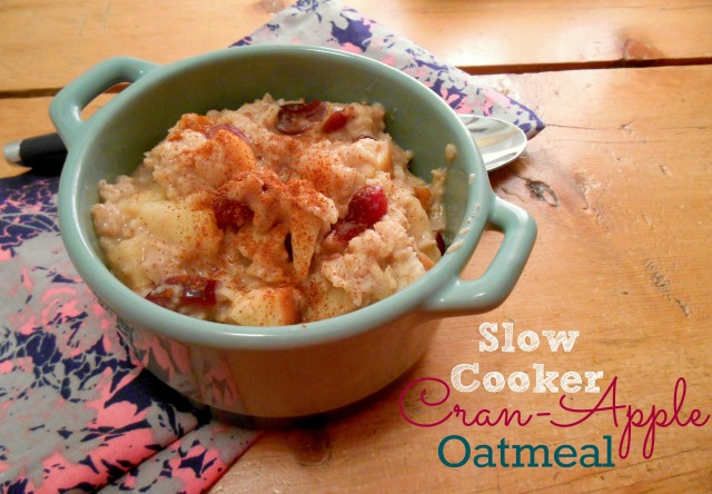 Slow Cooker Cran-Apple Oatmeal | Tulips & Rain