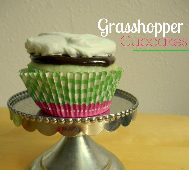 Grasshopper Cupcakes | Tulips & Rain