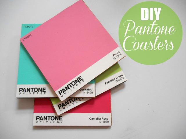 DIY Pantone Coasters