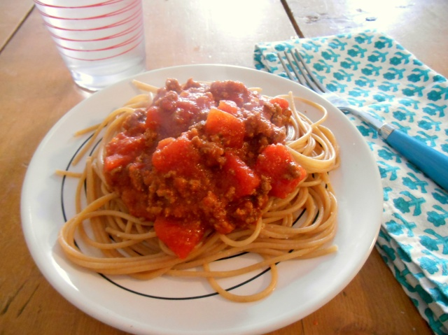 Simple Spaghetti with Meat Sauce