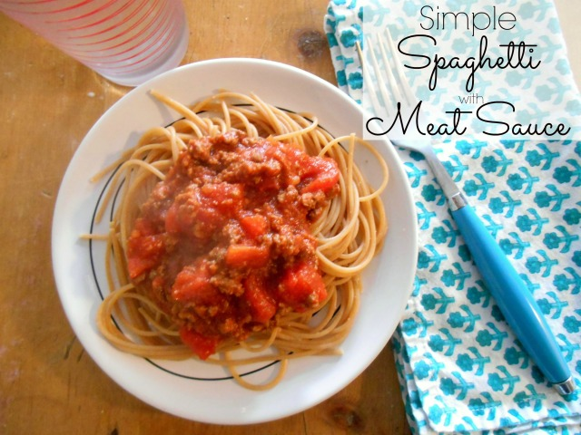 Simple Spaghetti with Meat Sauce | Tulips & Rain