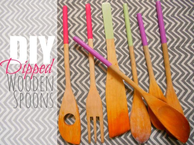 DIY: Dipped Wooden Spoons
