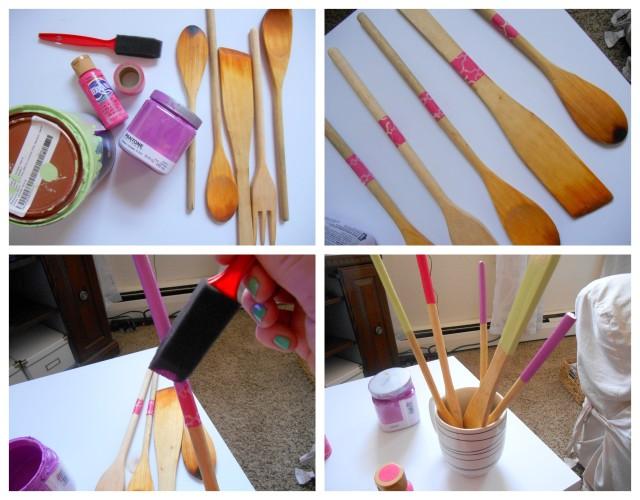 DIY Dipped Wooden Spoons